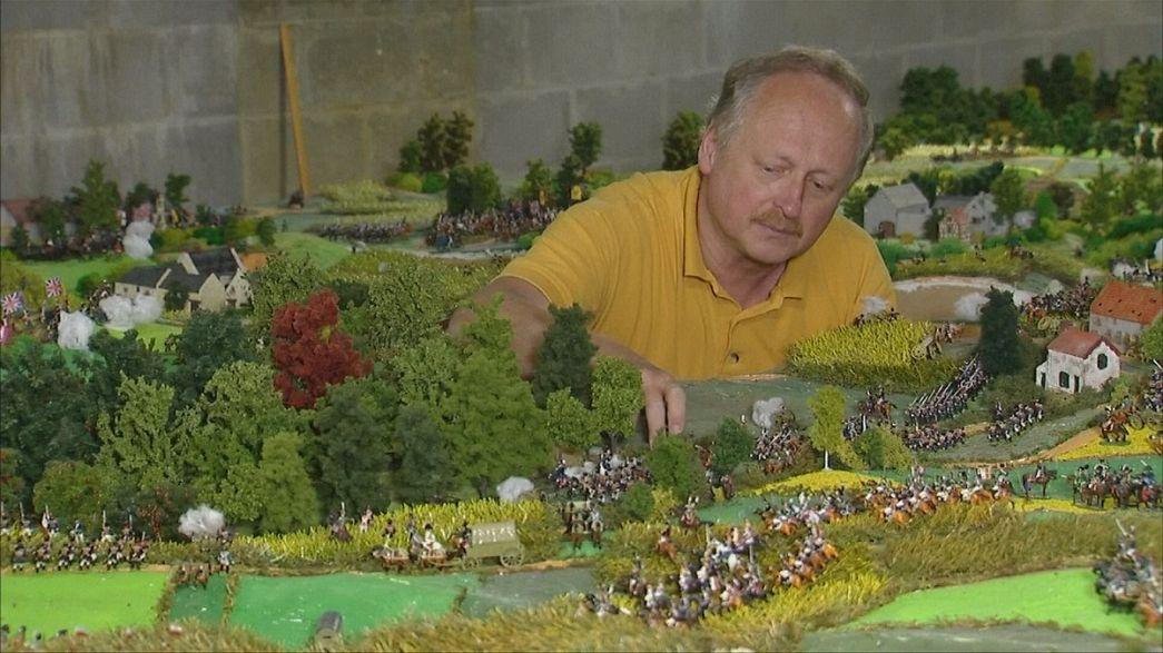 ماکت چهل متر مربعی از میدان جنگ واترلو