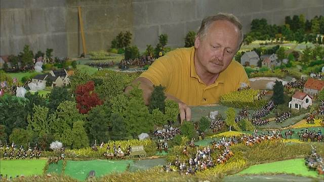 Waterloo fan finishes model replica after forty years