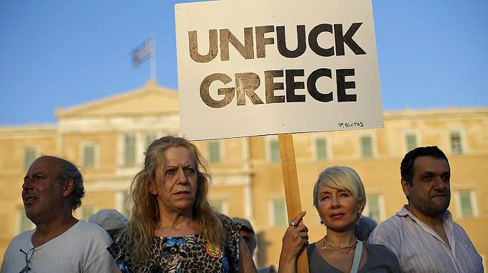 Athens rallies against austerity ahead of eurozone crunch talks