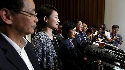 Hong Kong lawmakers reject Beijing backed proposal for electoral reform