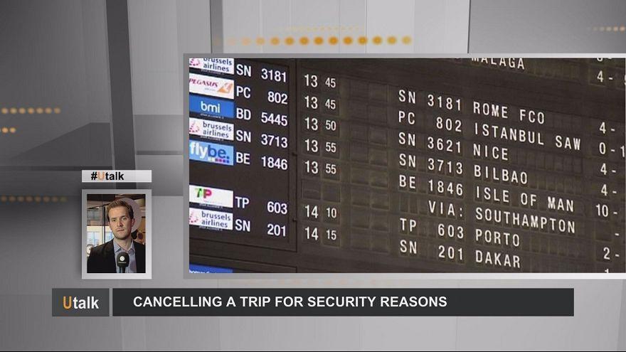 Anulação de viagem por razões de segurança