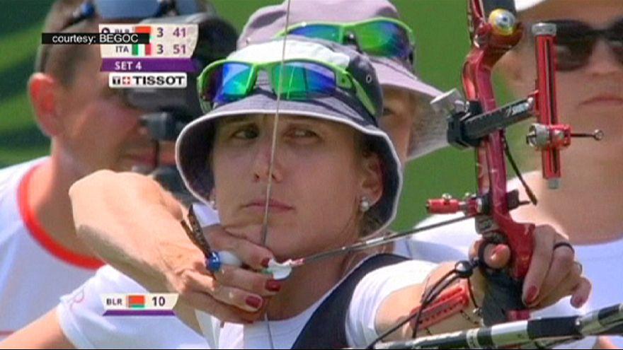 اليوم السابع للألعاب الأوروبية : تفوق إيطالي في نهائي مسابقة الرماية فئة السيدات