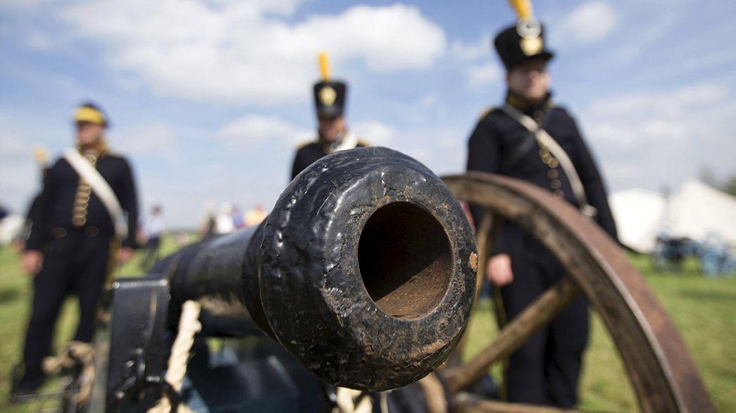 Waterloo revive la última batalla de Napoleón