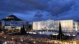 Atina'da Euro'ya destek gösterisi