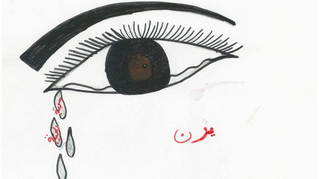 El viaje de los refugiados sirios desde los ojos y los lápices de los niños