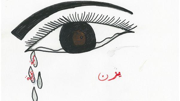 Gyerekrajzokból néz rád vissza a terror igazi arca