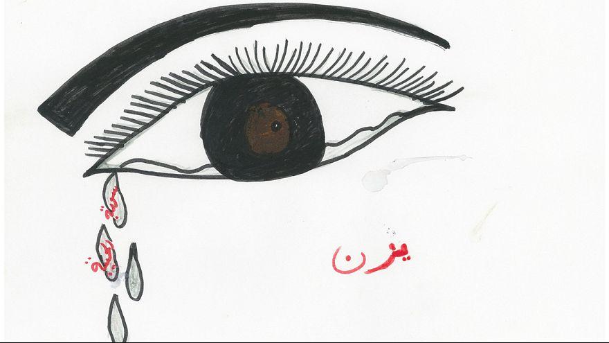 Grâce au dessin, un peu d'espoir pour les petits réfugiés syriens