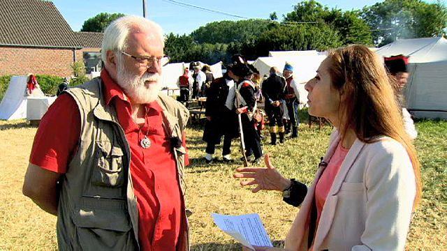 مقابلة خاصة بيورونيوز ،حول معركة واترلو، مع المؤرخ البلجيكي باتريك ماس.