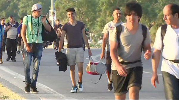Greeks on Lesbos struggling to help refugees