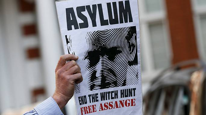 London: WikiLeaks founder Assange marks three years in Ecuador's embassy, as new cables released