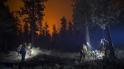 Battle against wildfires in California