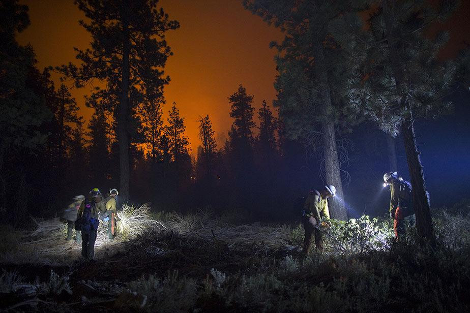 Important feu de forêt en Californie