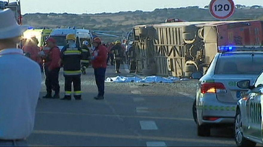 Portugal: Acidente de autocarro causa três mortos na autoestrada do sul