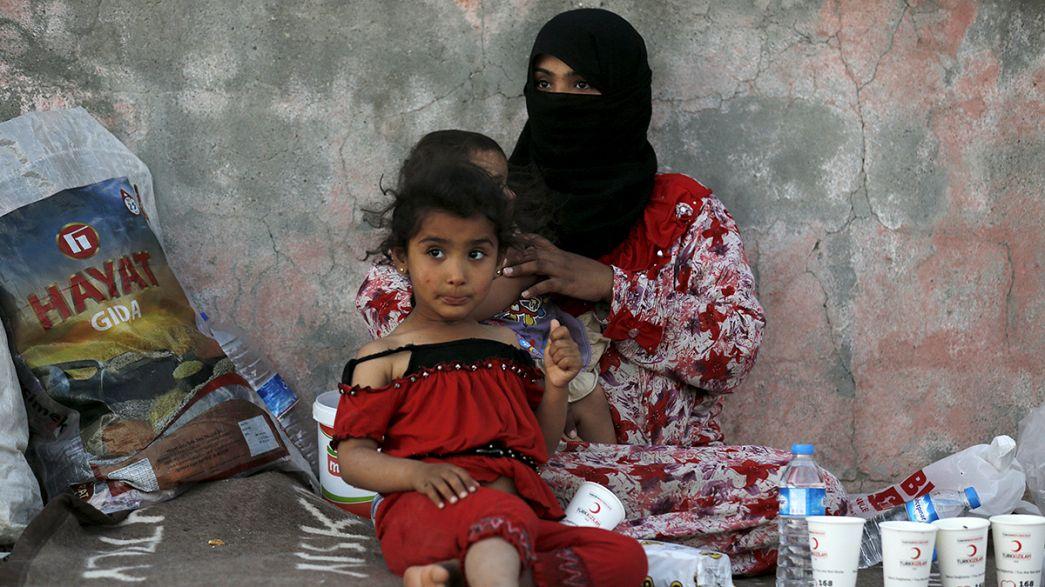 Angelina Jloie e António Guterres na Turquia no Dia Mundial dos Refugiados