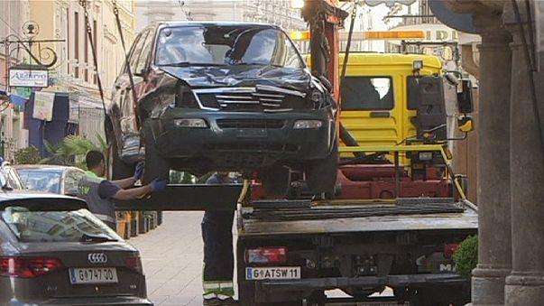 Three killed as Austrian ploughs car into crowd