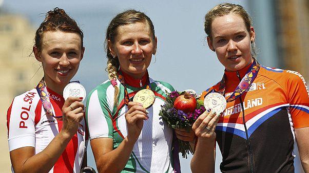 """Baku 2015: Daniela Reis """"satisfeita"""" com 14.° lugar na prova de fundo em ciclismo"""