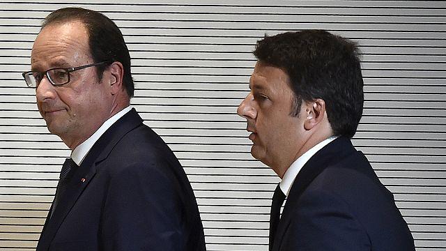 هولاند يشدد على ضرورة تحمل عبء المهاجرين مع إيطاليا بينما بلاده تمنع العالقين في فنتيميليا من الدخول