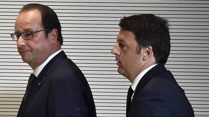 French president offers words of support to Italy over migrant crisis in Milan