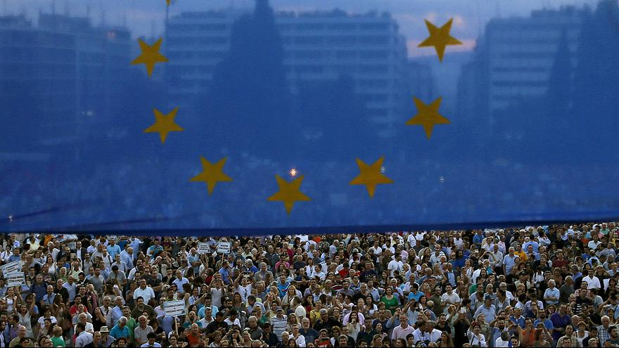 Manifestation à Bruxelles pour soutenir la Grèce
