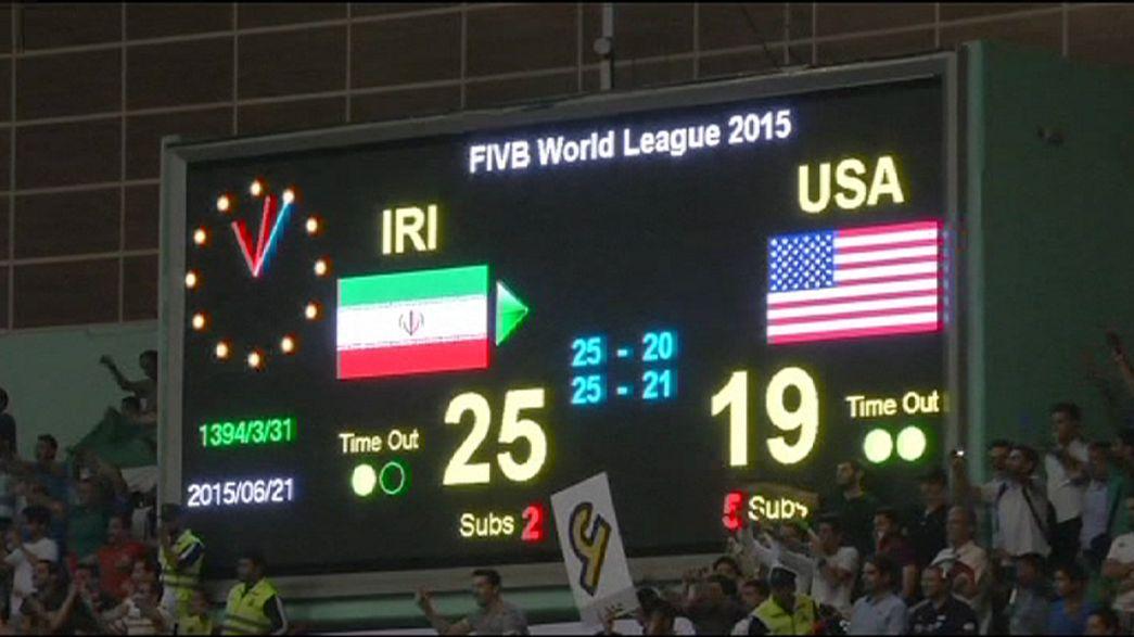 Irão: Seleção nacional de voleibol vence EUA