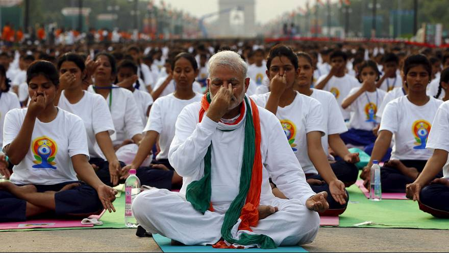 India: PM Modi joins thousands to mark International Yoga Day