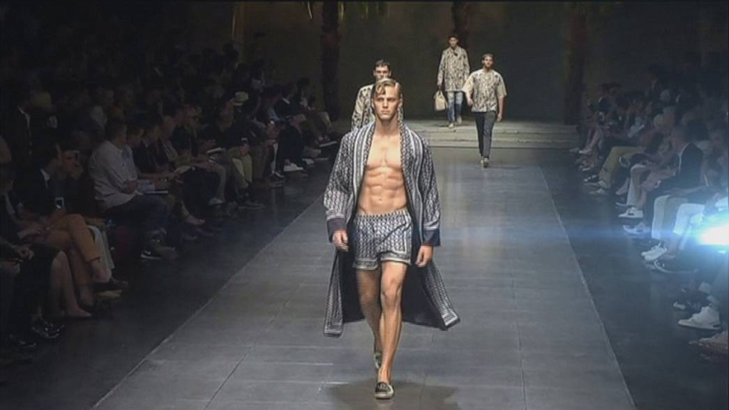 East meets West in men's spring-summer fashion in Milan