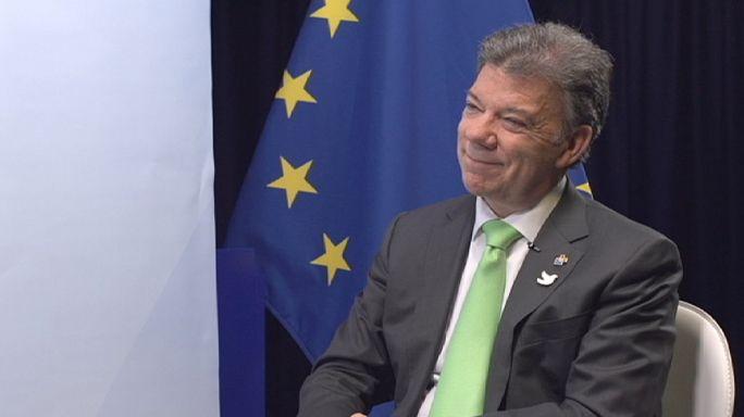 لقاء خاص مع الرئيس الكولومبي حول إعفاء الكولومبيين من طلب التأشيرة لدخول الإتحاد الأوروبي و مستجدات مسلسل السلام مع حركة الفارك