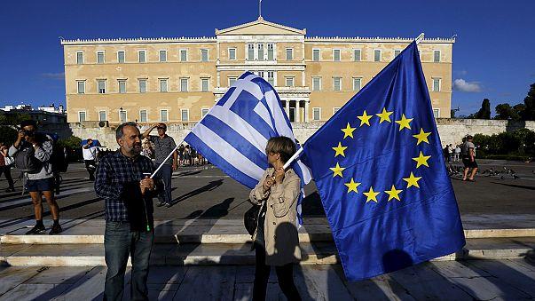 Európa-párti tüntetés Athénban