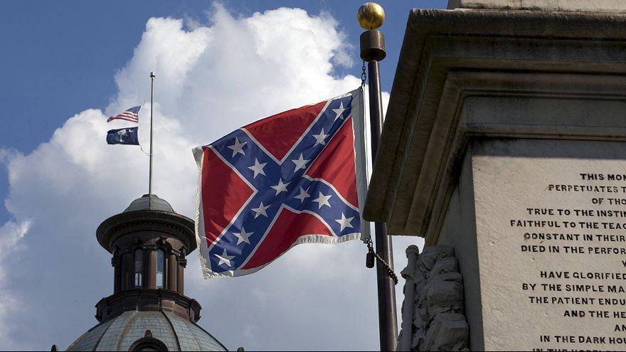 إنزال علم الكنفدرالية في كارولينا الجنوبية