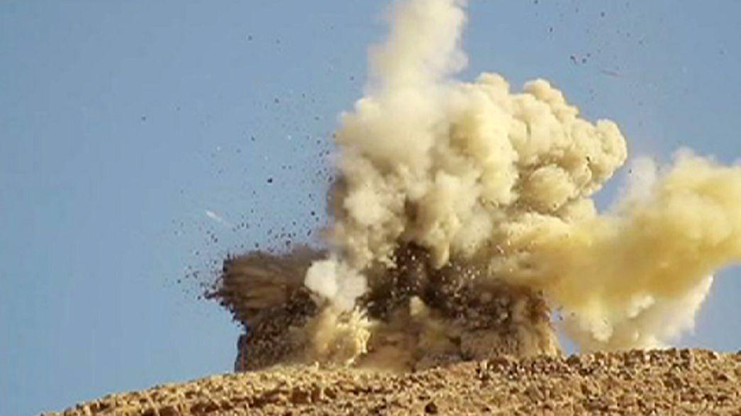 Las ruinas grecorromanas de Palmira en Siria peligran