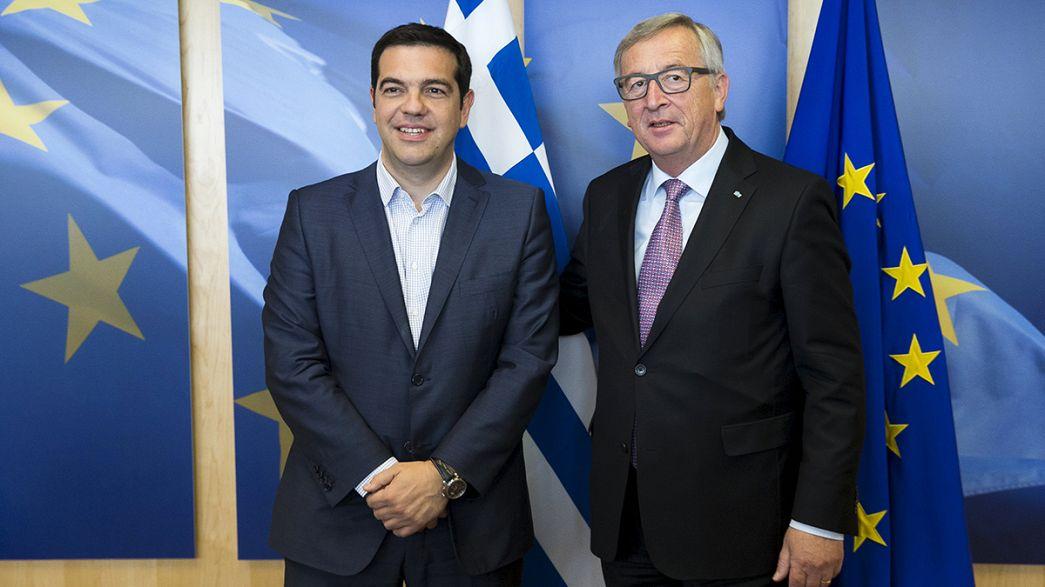 Alexis Tsipras face à ses créanciers à Bruxelles