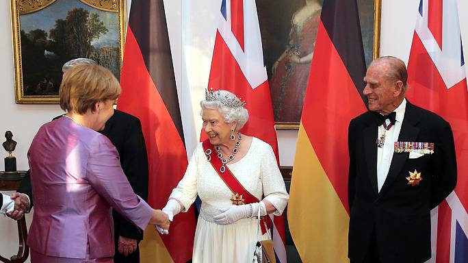 Kraliçe II. Elizabeth Almanya'da