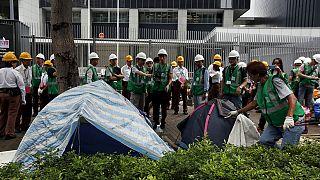 Из центра Гонконга выпроводили последних протестующих