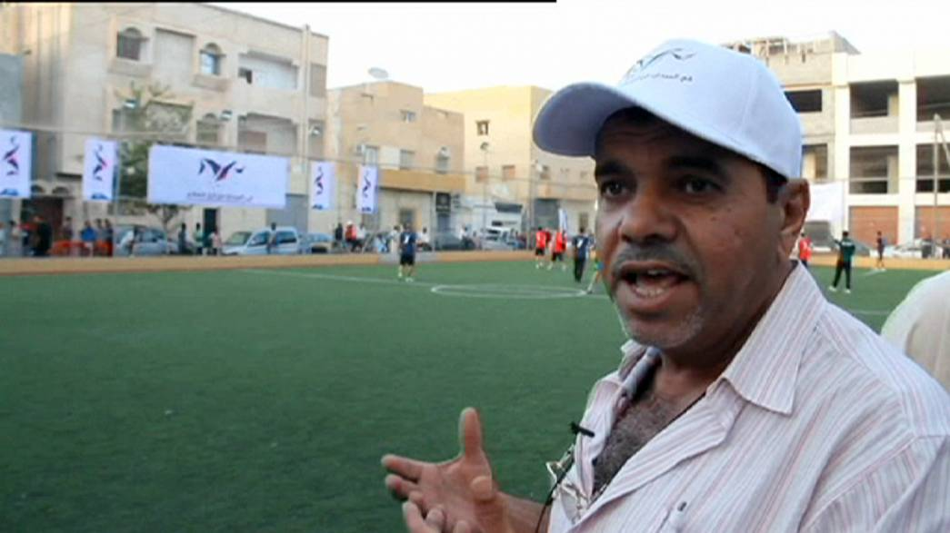 Goals replace guns and grenades in Libyan football tournament for peace
