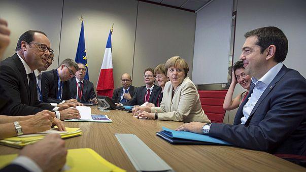 Merkel und Hollande sprachen mit Tsipras