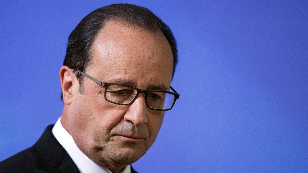 La réaction de François Hollande à la suite de l'attentat en Isère