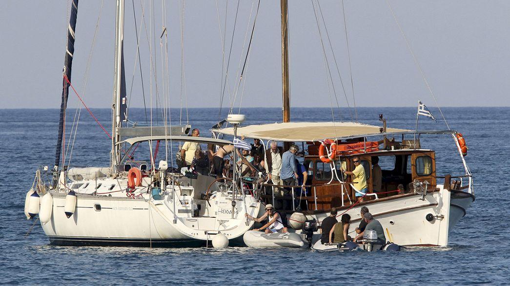 La Tercera Flotilla de la Libertad navega hacia Gaza con el 'Marianne' sueco