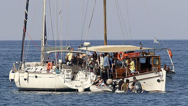 """Флотилия свободы"" на пути к Газе"