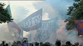 Les supporters de Catane manifestent contre les dirigeants du club