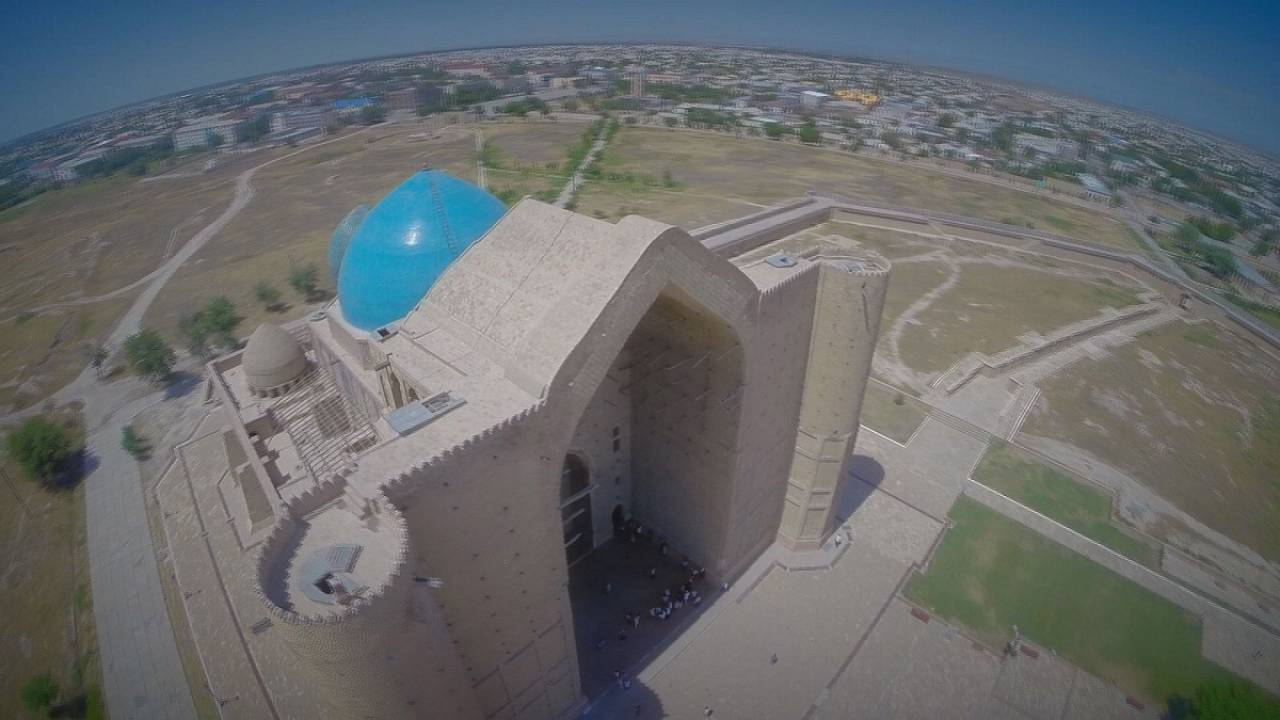 Postcards from Kazakhstan: the massive mausoleum revered by pilgrims