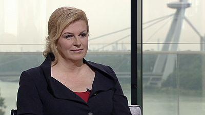 Croatian President Kolinda Grabar- Kitarovic from peace, recession to feminism
