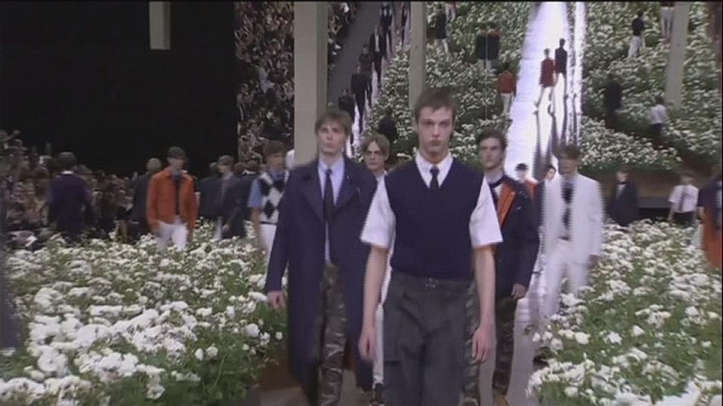 Fresh and floral fashion at Paris Spring-Summer menswear shows