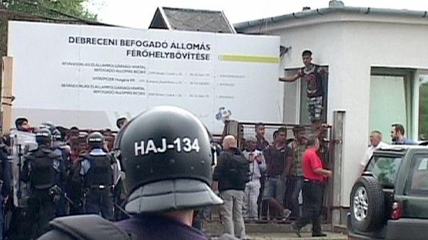 Hırvatistan'daki mülteci kampına polis müdahalesi
