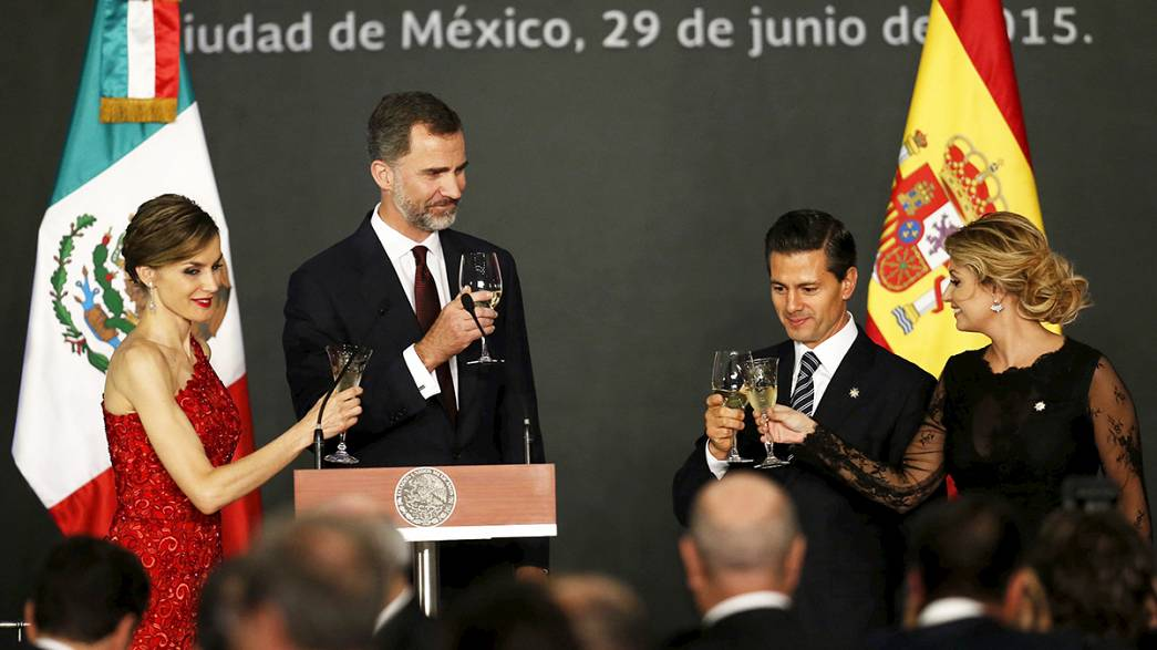 Los reyes de España visitan México