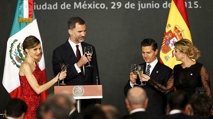 Mexikóban a spanyol királyi pár