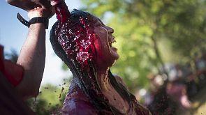 Spanien: Traditionelle Weinschlacht