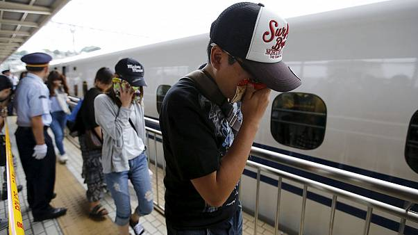 Japan: A man sets himself alight on a bullet train