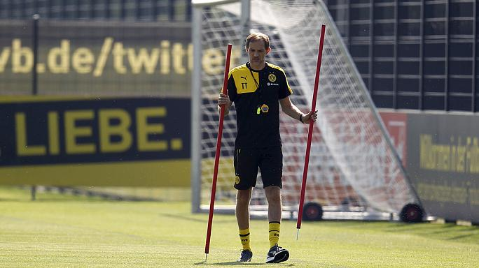 A Dortmund már edz