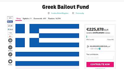Crowdfunded site for Greek debt nears €1,500,000 in contributions