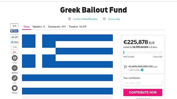 Yunanistan'a yardım kampanyası başlatıldı